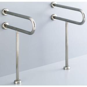 INAX LIXIL・リクシル 各種施設用固定式手すり KF-312S70 700mm 洗面器用手すり(壁床固定式) ステンレスタイプ[新品]|up-b