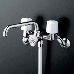 KVK 一時止水付2ハンドルシャワー 固定こま KF104W [新品] up-b