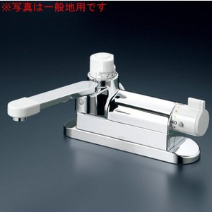 KVK KM297ZG/800 デッキ形定量止水付サーモスタット式混合栓寒冷地用 浴室用水栓>定量止水付水栓 [新品]|up-b