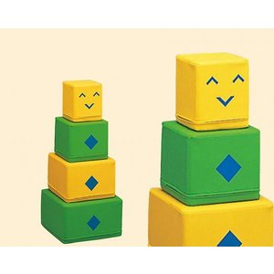 【KP-022】 カクロボ 積み上げて遊ぶソフトブロック 幼児用遊び場 室内遊具 コンビウィズ株式会社【KP022】[新品]|up-b
