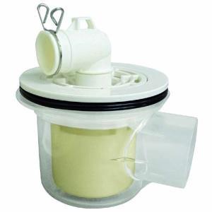 ミヤコ MIYAKO M44PETX横引トラップ 透明【M44PETX】寸法 50 洗濯機排水部材[...