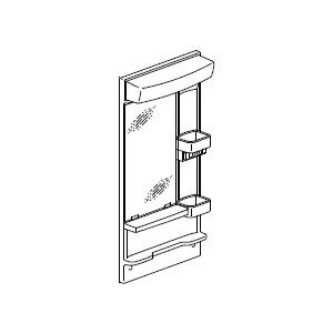INAX・LIXIL 洗面化粧台部材 【MFK-501S】(間口500mm) ミラーキャビネット 照明:LED照明/タイプ:1面鏡 オフト[oft]|up-b