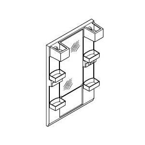 INAX・LIXIL 洗面化粧台部材 【MFTX1-601XFJ】(間口600mm) ミラーキャビネット 照明:LED照明/タイプ:1面鏡・ショートミラー オフト[oft]|up-b