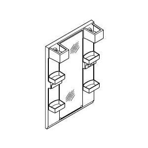 INAX・LIXIL 洗面化粧台部材 【MFTX1-601YPJU】(間口600mm) ミラーキャビネット 照明:LED照明/タイプ:1面鏡・ロングミラー オフト[oft]|up-b