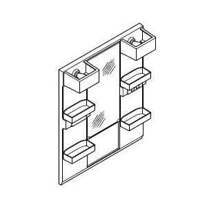INAX・LIXIL 洗面化粧台部材 【MFTX1-751YFJ】(間口750mm) ミラーキャビネット 照明:LED照明/タイプ:1面鏡・ショートミラー オフト[oft]|up-b