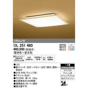 オーデリック インテリアライト 和風照明 【OL 251 480】 OL251480 和室|up-b
