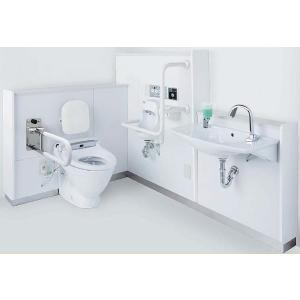 INAX LIXIL・リクシル 施設用設備機器 車いすトイレパック PTWC-CC241NSSTL 洗面器あり/左勝手/リモコン開口あり [納期3週間][新品]|up-b