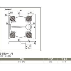 サヌキ SPG 洗濯機防水パン 樹脂タイプ PW-640 PW640 [新品] up-b 02