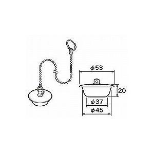 パナソニック カサ付ゴム栓 Φ53×Φ37 高さ20 チェーン長さ450 RLXGVDT412 [新品] up-b