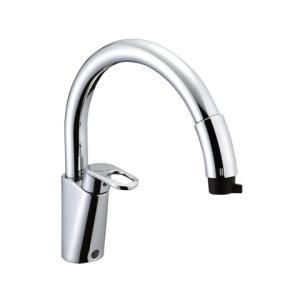 INAX LIXIL・リクシル キッチン用水栓金具 ワンホールタイプ 吐水口引出式(ハンドシャワー付) グースネック(エコハンドル)  【SF-HM451SYXU】|up-b