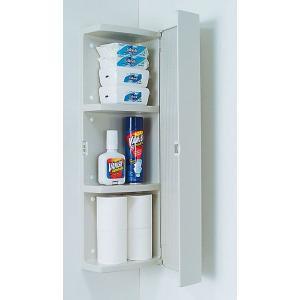 トイレのデッドスペースを活かして演出する たっぷり収納のキャビネット  ★トイレットペーパーなら  ...