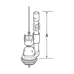 対応タンク  (G)DT-2820 (G)DT-2520   寸法 A=57 B=283  INAX...