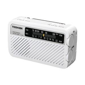 東芝 TOSHIBA 手回し充電ワイドFMラジオ TY-JKR5(W) ホワイト|up-b