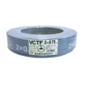 富士電線工業 ビニルキャブタイヤ丸形コード 2芯0.75mm 100M 【VCTF 2×0.75】 up-b