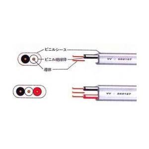 富士電線工業 VVFケーブル 2.0mm×3芯 100m巻 (灰色) VVF2.0mm×3C×100m up-b