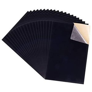 BENECREAT 40枚貼りビロード生地 ベルベット生地 貼りシート付 ジュエリーボックス装飾 ギフトバッグ素材 ブラック (ブラック)|up-to-date