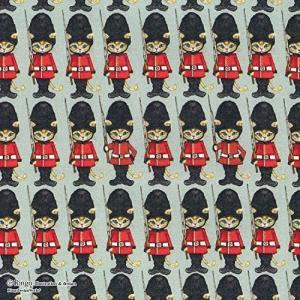 KIYOHARA Ringo ロンドンキャット カットクロス 生地 オックス 巾約110cm×50c...