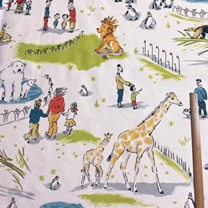 生地 動物園 マイケルミラー Michael Miller fabrics 巾約110cm長さ約10...