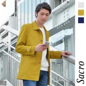 メンズ コート Sacro ショート丈 ステンカラー コート...