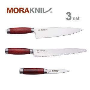 Morakniv Kitchen Knife 3set Classic 1891, red モーラナイフ キッチンナイフ3本セット クラシック 1891 レッド|upi-outdoorproducts