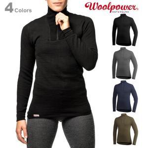 Woolpower ウールパワー ジップタートルネック 200 正規品|upi-outdoorproducts