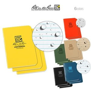 Rite in the Rain Mini Stapled Notebook ライト イン ザ レイン ミニ ステープルノート 3冊セット|upi-outdoorproducts