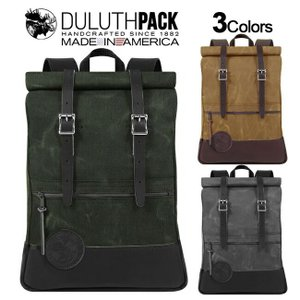 Duluth Pack Deluxe Roll-Top Scout Pack WAX ダルースパック デラックス ロールトップ スカウトパック ワックス|upi-outdoorproducts