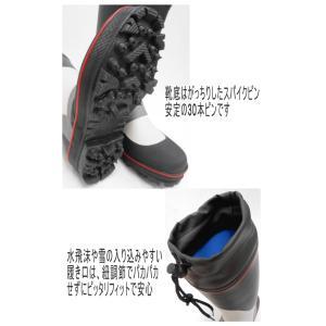 (スパイクブーツ217)フィッシングブーツ/安定の30本ピンスパイク/長靴/磯ブーツ/水産長靴 upis777 02