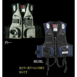 (笛付きフローティングベストLJ1050)ライフジャケット/フィッシングベスト/釣り|upis777|02