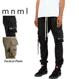 mnml ミニマル カーゴパンツ TACTICAL PANTS  DUST カーゴパンツ ブラック ...