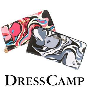 DRESSCAMP ドレスキャンプ ポップアート柄ラウンドジップウォレット 長財布 メンズ レディース|upper-gate