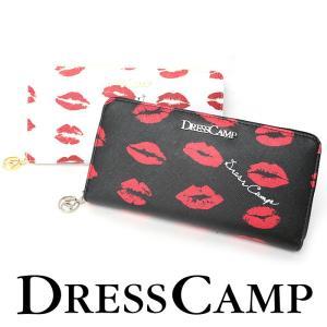 DRESS CAMP ドレスキャンプ リップ柄ラウンドジップウォレット 財布 長財布|upper-gate