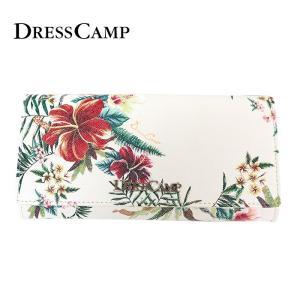 DRESSCAMP ドレスキャンプ 長財布 ハイビスカス柄ロングウォレット 花柄 フラワー ユニセックス|upper-gate
