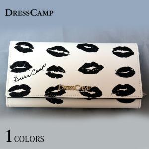 DRESSCAMP ドレスキャンプ 財布 モノトーンリップ柄 ロングウォレット 長財布 二つ折り レディース メンズ|upper-gate