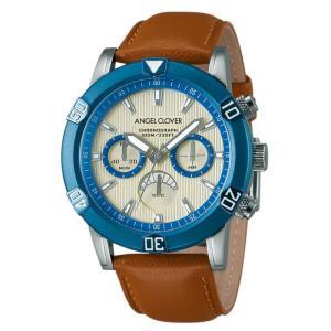 1年保証 正規品 Angel Clover エンジェルクローバー ブリオ Brio 腕時計 メンズ ウォッチ 革ベルト ブラウン 逆回転防止 10気圧防水|upper-gate