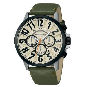 1年保証 正規品 Angel Cloverエンジェルクローバー Bump バンプ 腕時計 メンズ ウォッチ 革ベルト カーキ 防水|upper-gate
