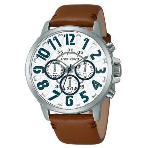 1年保証 正規品 Angel Clover エンジェルクローバー Bump バンプ 腕時計 メンズ 革ベルト ブラウン キャメル ウォッチ|upper-gate