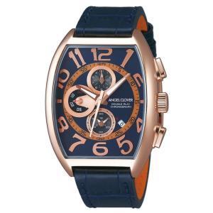 1年保証 正規品 Angel Clover エンジェルクローバー ダブルプレイ 腕時計 メンズ ウォッチ 革ベルト ネイビー|upper-gate