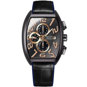 1年保証 正規品 Angel Clover エンジェルクローバー ダブルプレイソーラー アナログ 腕時計 メンズ ウォッチ 革ベルト ブラック|upper-gate