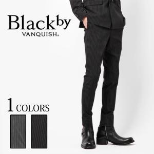 Black by VANQUISH ブラックバイヴァンキッシュ ストライプ スーパースキニー トラウザー スラックス|upper-gate