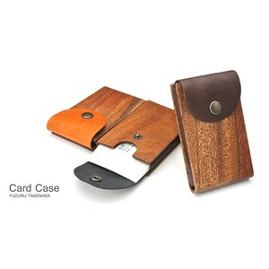 for card case02 木と革の名刺入れ02 木製品 革製品 日本製 ハンドメイド 手作業 磨き上げ 名刺入れ ビジネス 父の日 クリスマス 誕生日 就職祝 プレゼント upper-gate