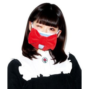 gonoturn ごのたん リボンマスク 自画撮り マスク 花粉症 風邪対策 予防 フェイスマスク