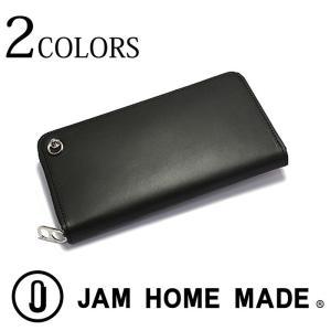 JAM HOME MADE ジャムホームメイド 長財布 ジップロングウォレット 本革 レザー メンズ レディース 財布 ブラック|upper-gate