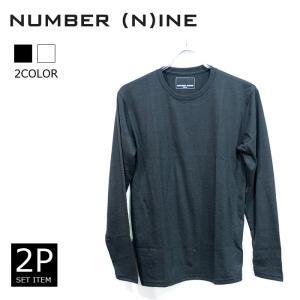 NUMBER (N)INE DENIM ナンバーナイン デニム 2Pセットパック ロングTシャツ ロンT 2枚セット ホワイト ブラック|upper-gate