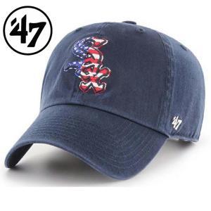 47 フォーティーセブン キャップ CAP sox spangled banner 47 clean up navy 帽子 ユニセックス メンズ レディース ホワイトソックス upper-gate