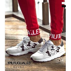 1PIU1UGUALE3 RELAX ウノピゥウノウグァーレトレ ランダムロゴスニーカー シューズ メンズ カジュアル スポーツ 運動 ビブラム Vibram|upper-gate