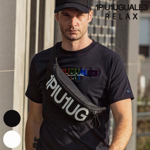 1PIU1UGUALE3 RELAX ウノピゥウノウグァーレトレ リラックス ロゴウエストバッグ bag 鞄 メンズ かっこいい おしゃれ かばん 斜めがけ 斜め掛け upper-gate