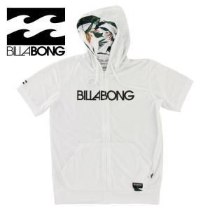 SALE ビラボン メンズ 半袖ラッシュガード ジップアップ フード付き BILLABONG AG011857 ホワイト|upsports