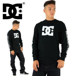 定番 ロゴTシャツ DC SHOES ディーシー 長袖 STAR LS TEE 5125J701 ブラック 長そで ティーシャツ 黒x白 長そで 長袖 ながそで L/S TEE ロングスリーブ|upsports