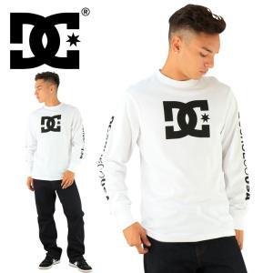 ディーシー DC SHOES 長そで ロングスリーブTシャツ ティーシャツ STAR LS TEE 5125J701 ホワイト 白x黒|upsports